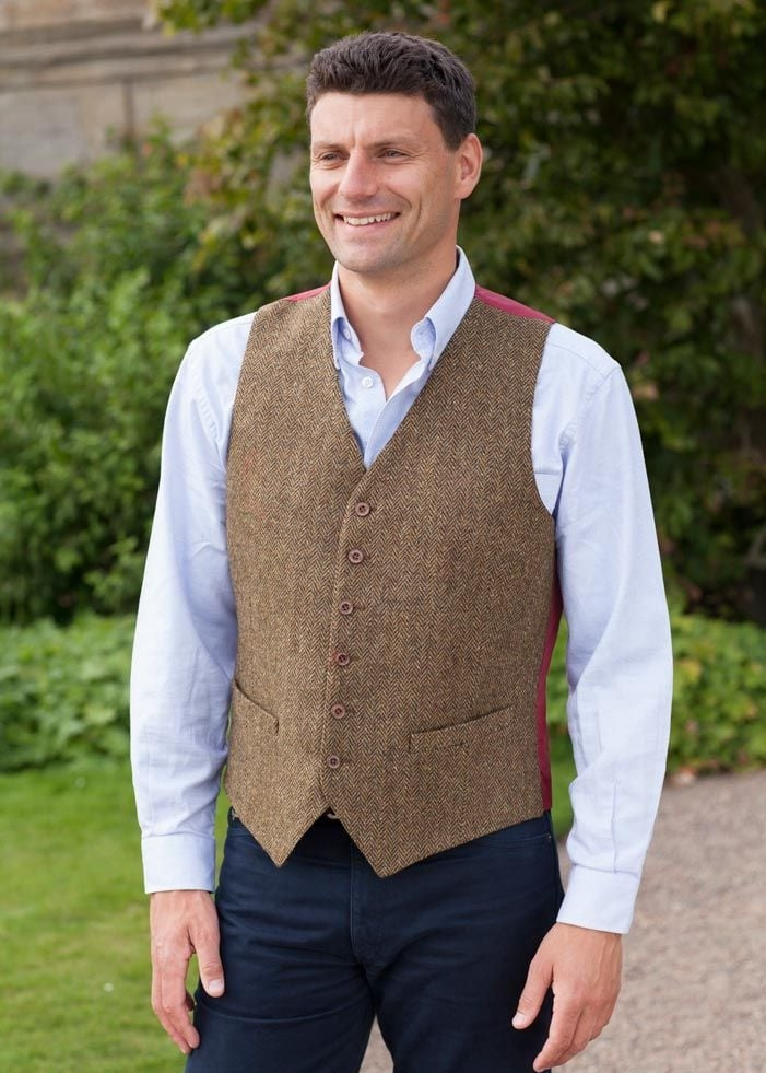 Magee Donegal Tweed Waistcoat  Large Image