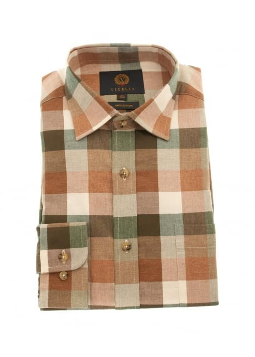 Viyella Melange Buffalo Check Shirt