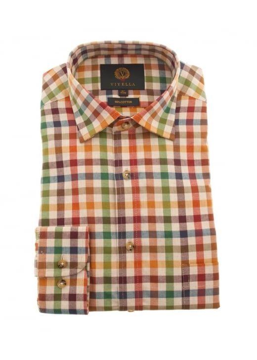 Viyella Melange Club Check Shirt