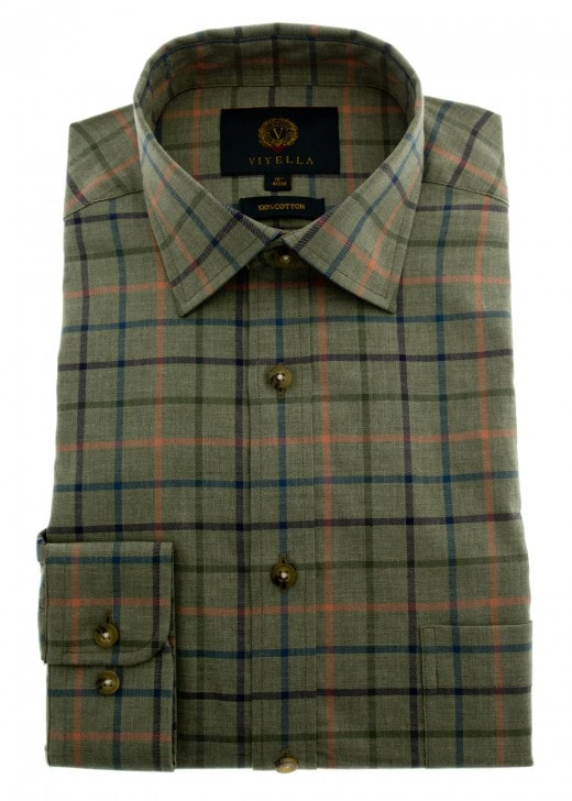 Viyella Melange Ground Check Shirt