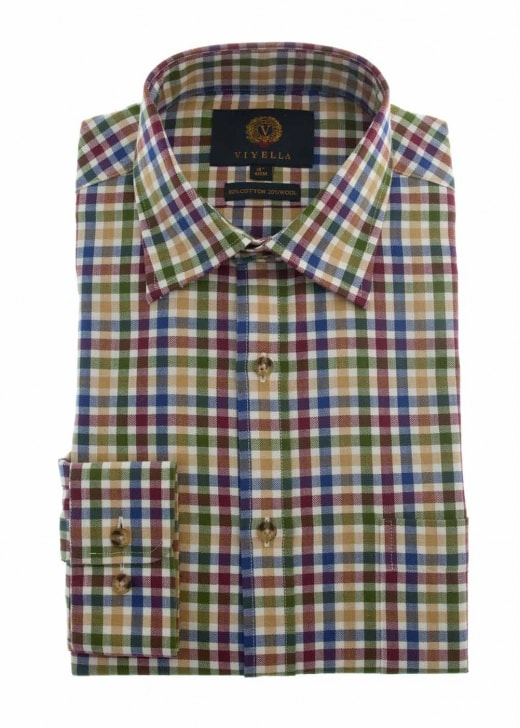 Viyella Mini Herringbone Club Check Shirt