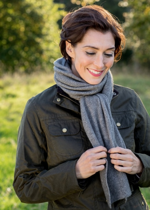 Noble Wilde Moss Stitch Monti Scarf