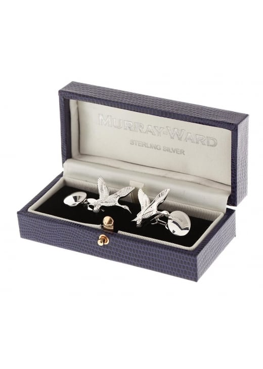 Murray Ward Flying Ducks Sterling Silver Cufflinks