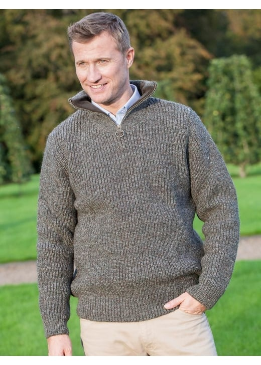 Barbour New Tyne Half Zip Neck Sweater