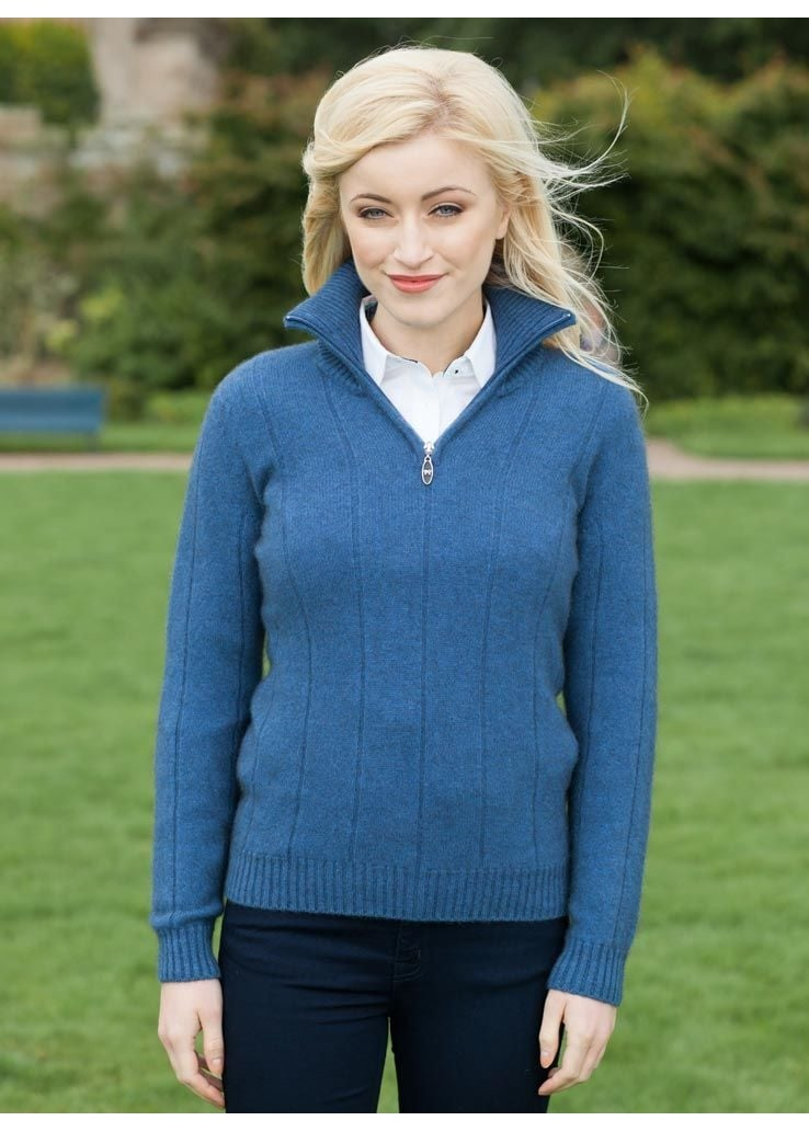 Noble Wilde Cedar Half Zip Jumper  Large Image