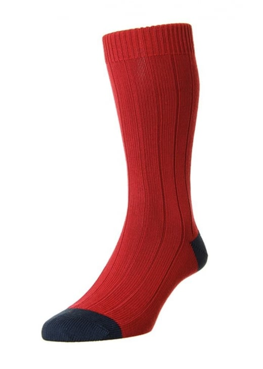 Scott Nichol Oxford Contrast Heel and Toe Sock