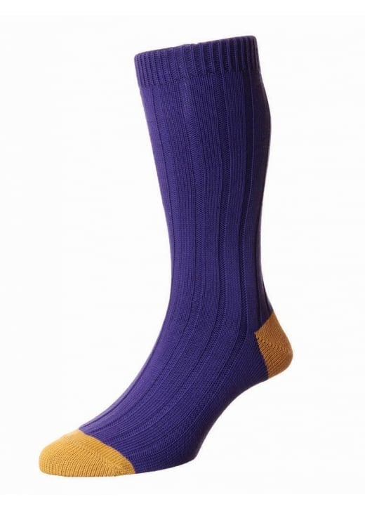 Scott Nichol Oxford Contrast Heel and Toe Socks