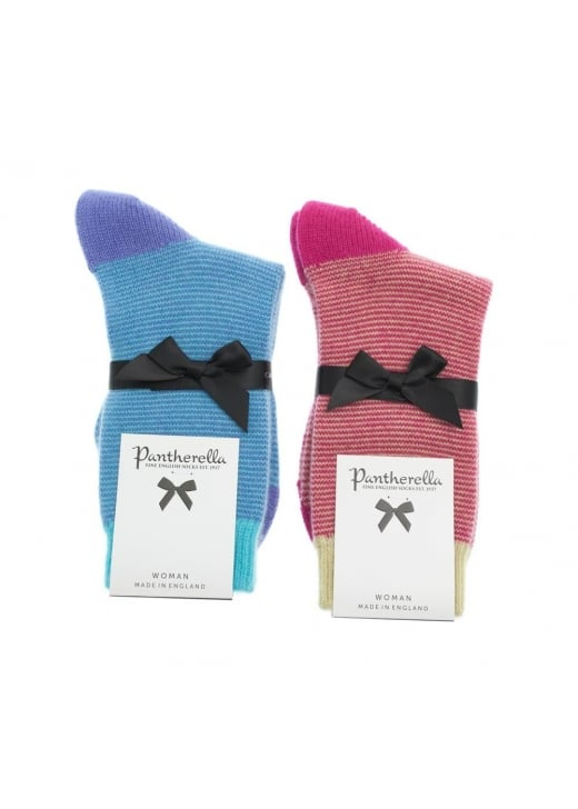 Pantherella Sylvie Cashmere Feeder Stripe Socks