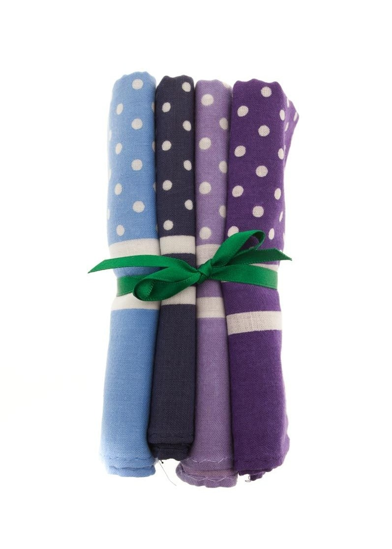 PL Sells  Large 4 Pack Tied Spotted Handkerchiefs Large Image
