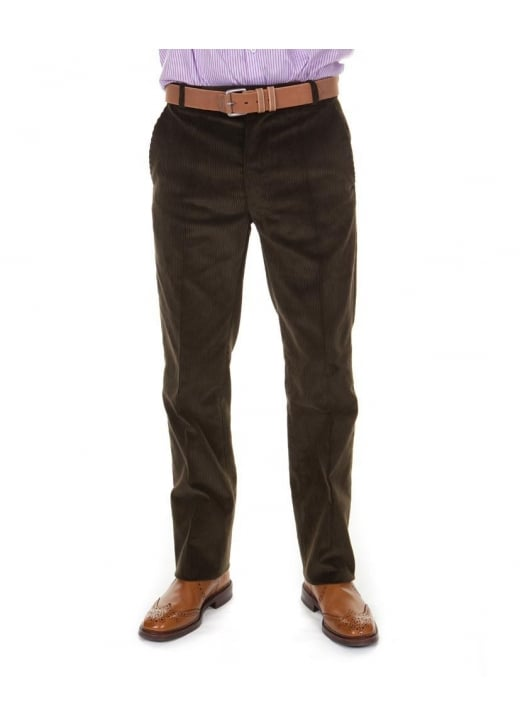Magee Plain Fronted Cord Trousers