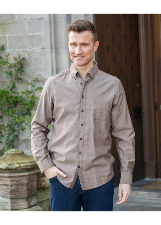 Brax Plain Heathered Twill Shirt
