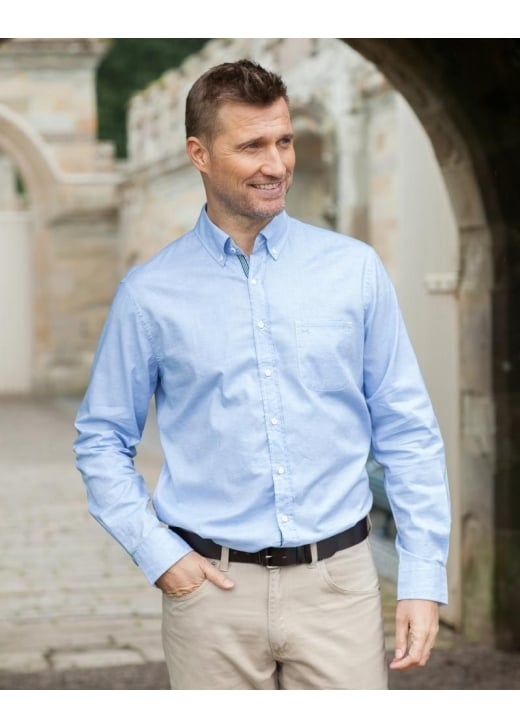 Brax Plain Summer Oxford Shirt