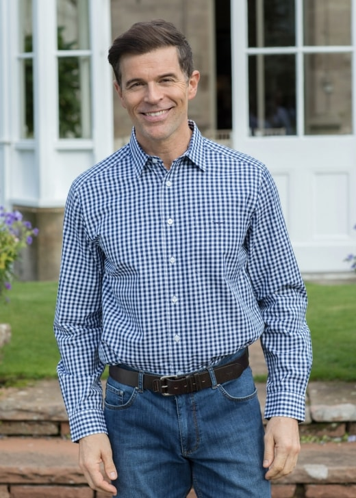 RM Williams Collins Gingham Shirt