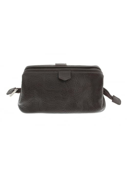 RM Williams Pebbled Leather Wash Bag