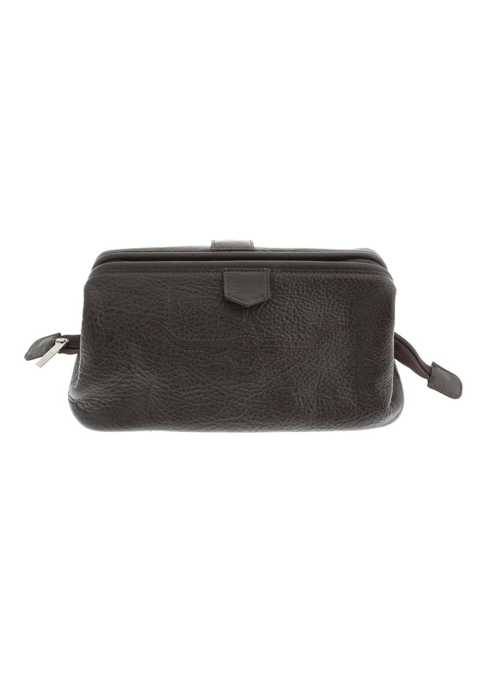 RM Williams Pebbled Leather Wash Bag Large Image