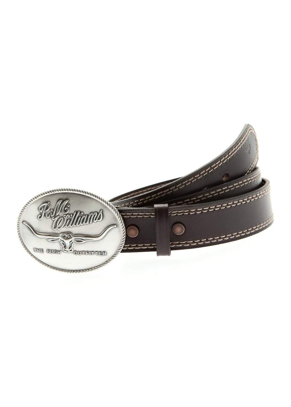 RM Williams Saddle Stitched 1.5 Belt Large Image