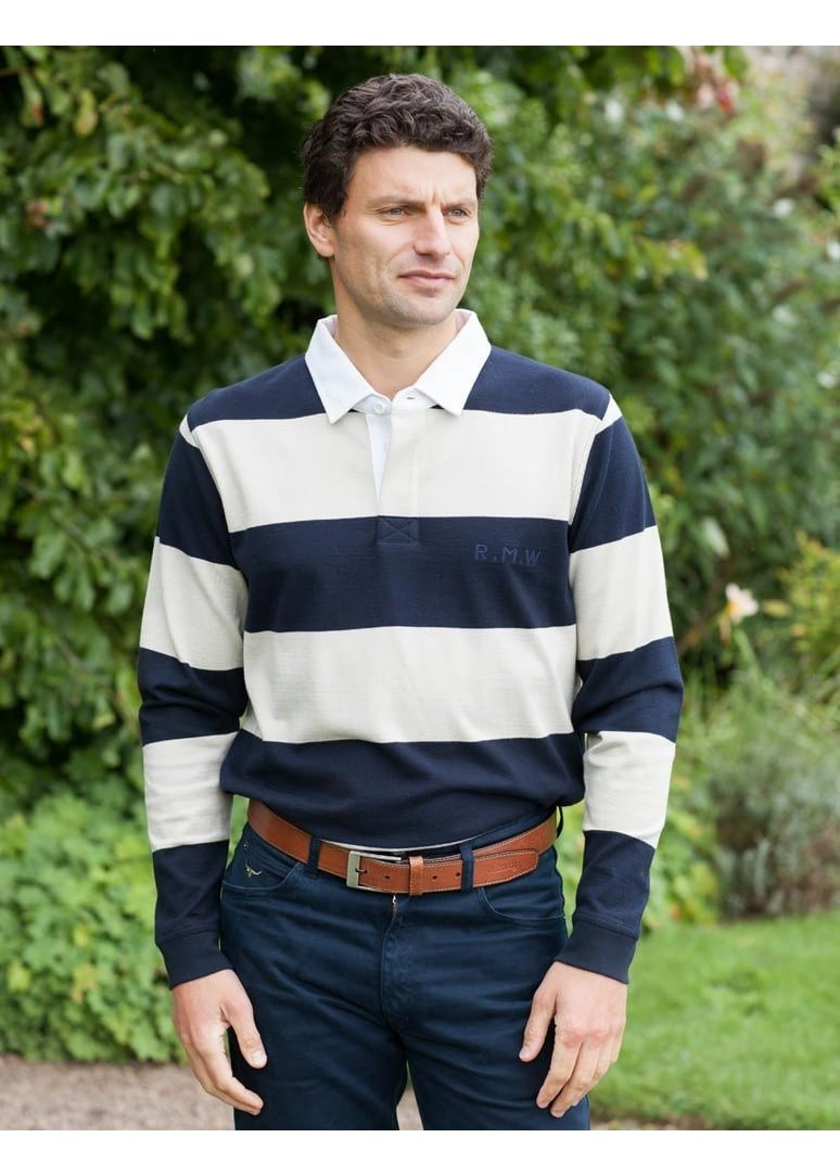 Rm Williams Tweedale Rugby Shirt Mens From A Hume Uk