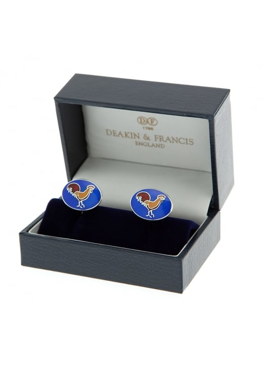 Deakin and Francis Royal Blue Silver and Enamel Cockerel Dome Spring Link