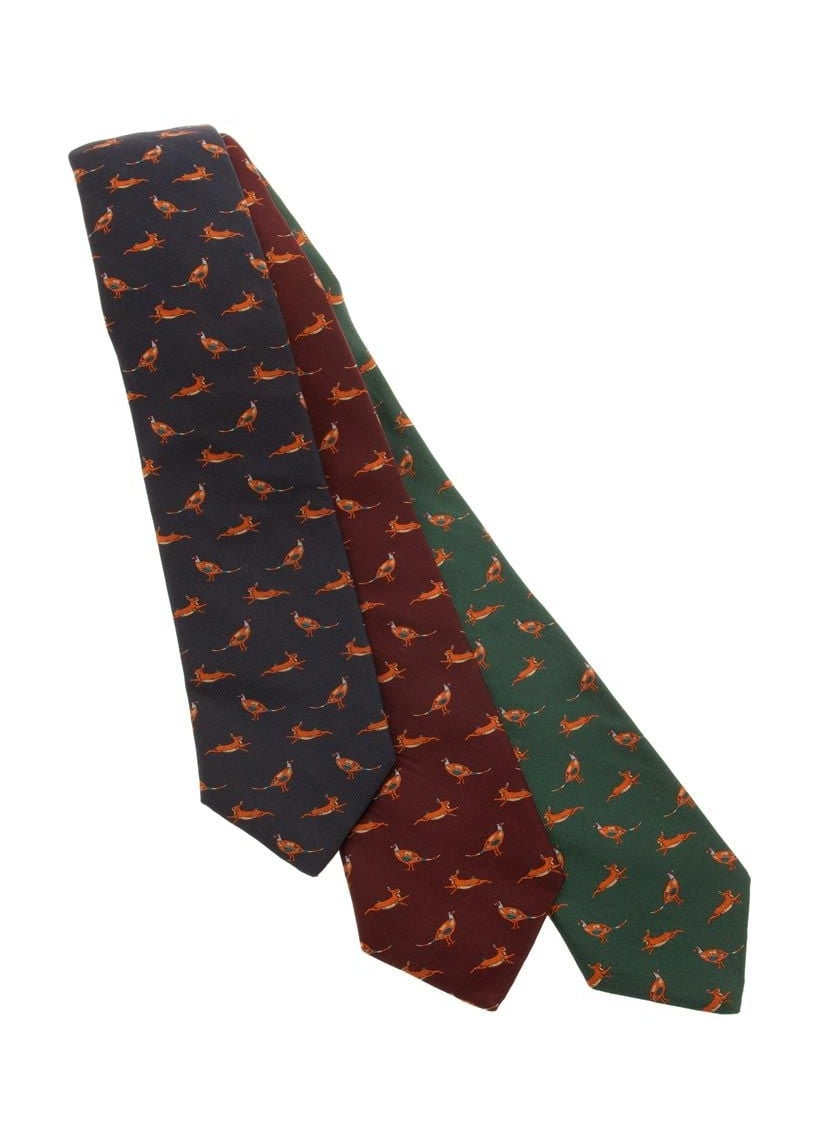Sarah Greaves Country Animals Silk Tie  Large Image