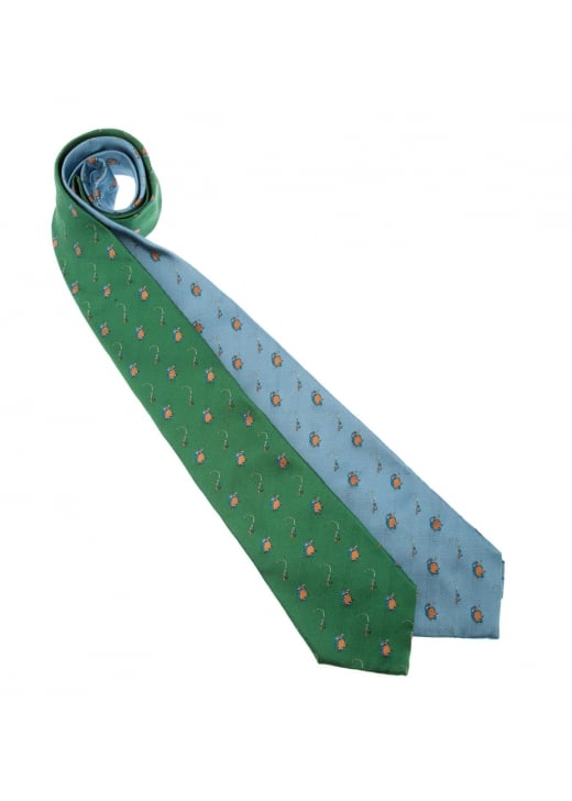 Sarah Greaves Kingfisher Silk Tie