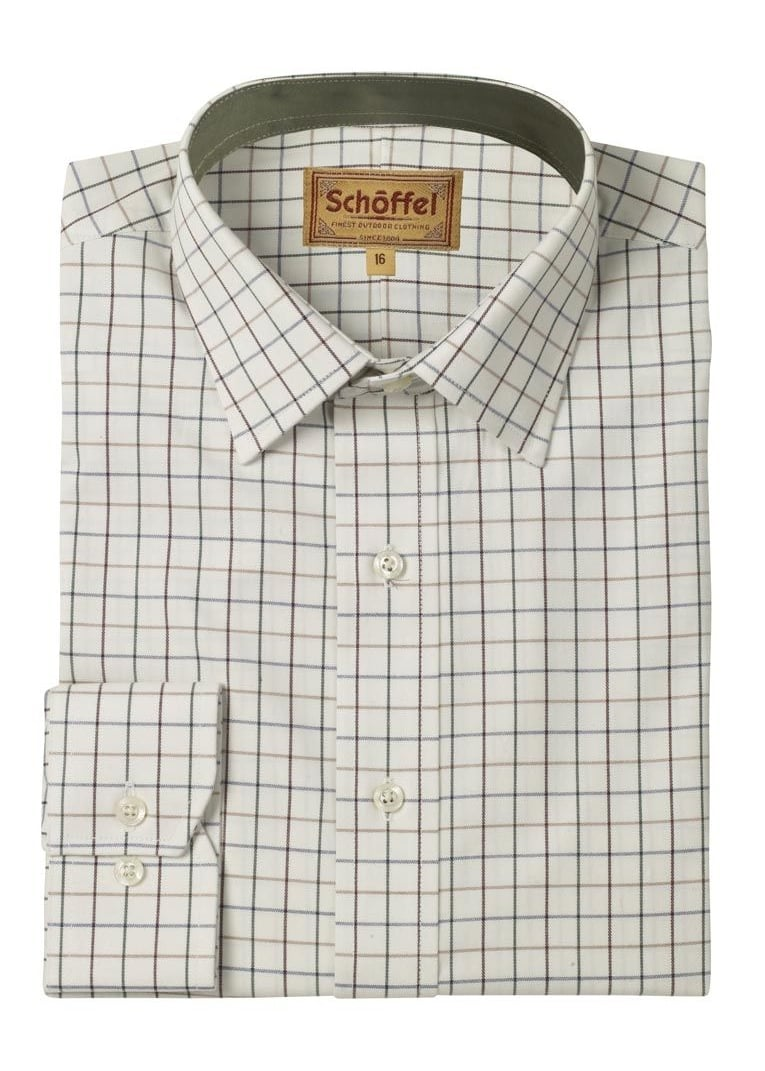 Schoffel Burnham Tattersall Shirt Large Image