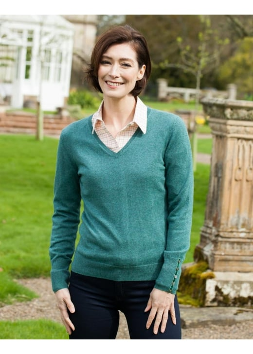 Schoffel Cotton Cashmere V-Neck Jumper