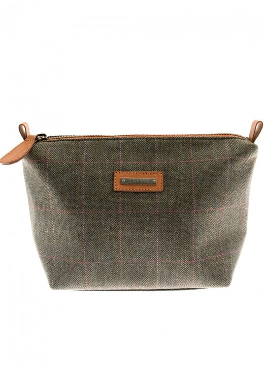 Schoffel Tweed Cosmetic Bag