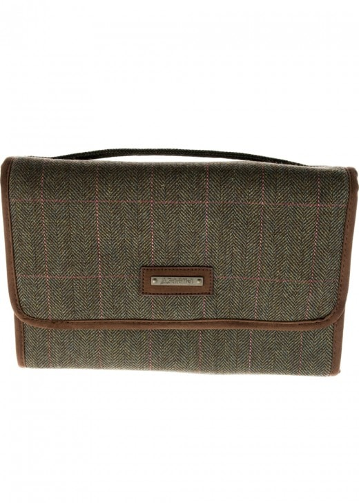 Schoffel Tweed Fold Up Toiletry Bag