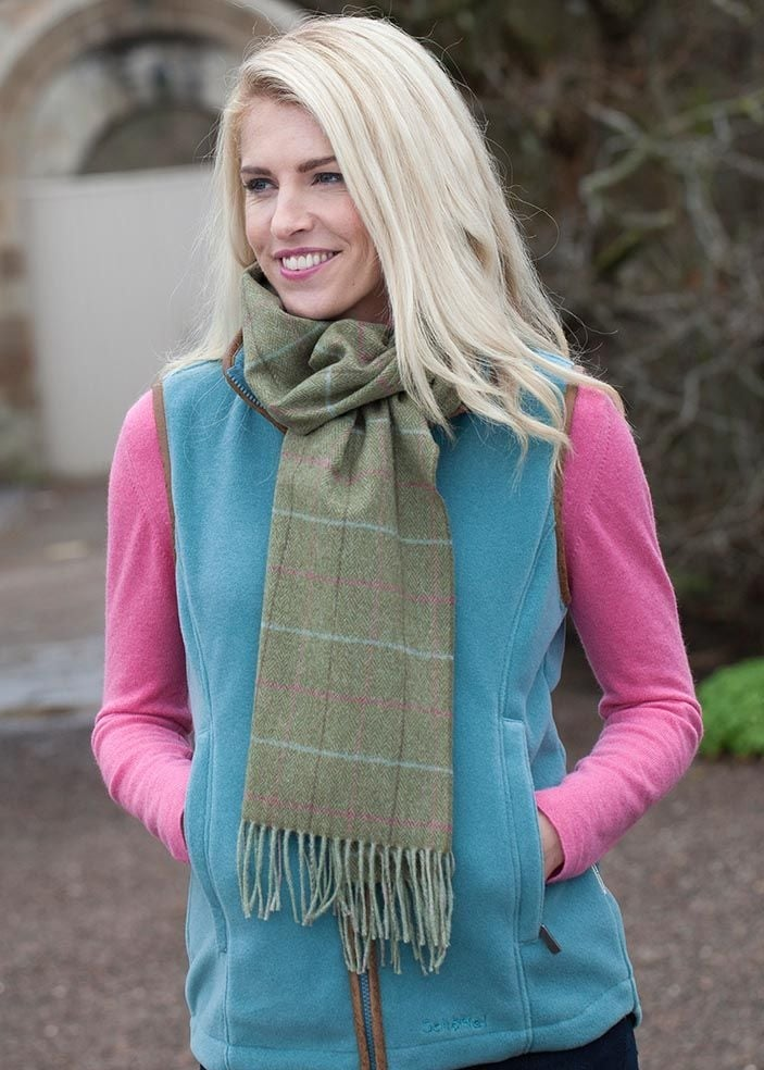 Schoffel Tweed Scarf  Large Image