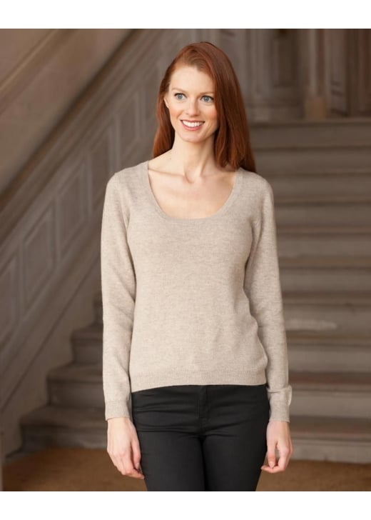 Brodie Cashmere Scoop Neck Jumper