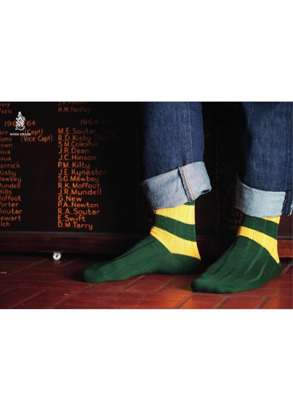 Scott Nichol Cambridge Rugby Stripe Socks Large Image