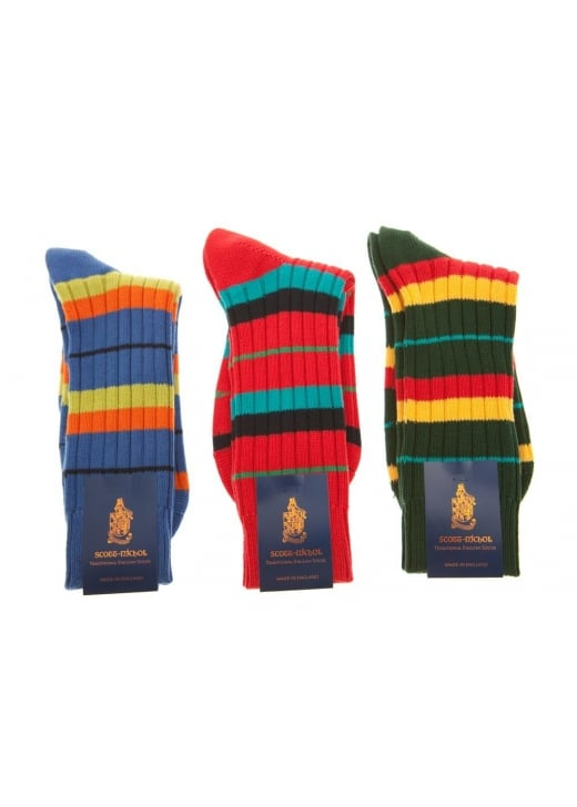 Scott Nichol Hobart Double and Narrow Stripe Socks