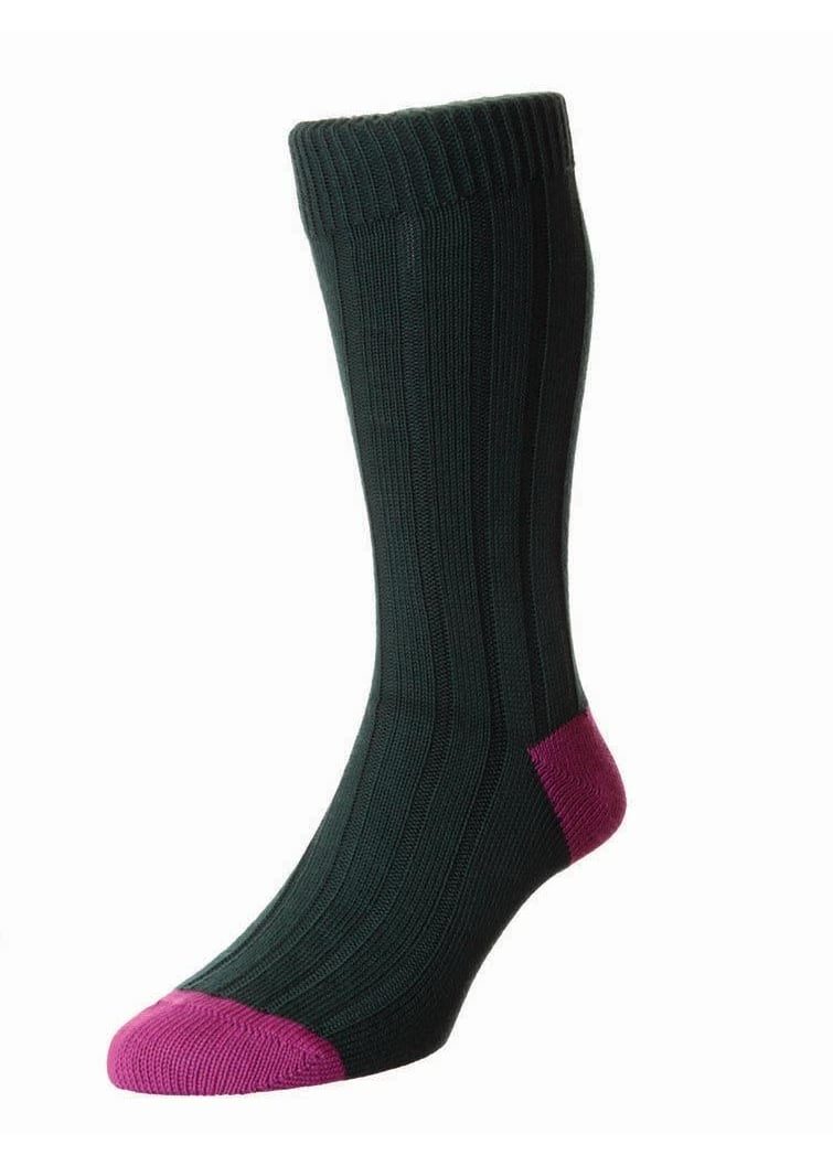Scott Nichol Oxford Contrast Heel and Toe Socks  Large Image