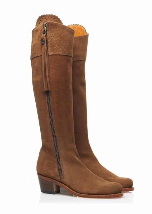 Fairfax and Favor Suede Regina Heeled Boots (Rubber Sole)