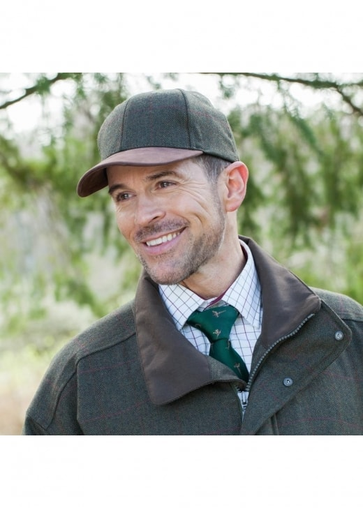 Schoffel Tweed Baseball Cap
