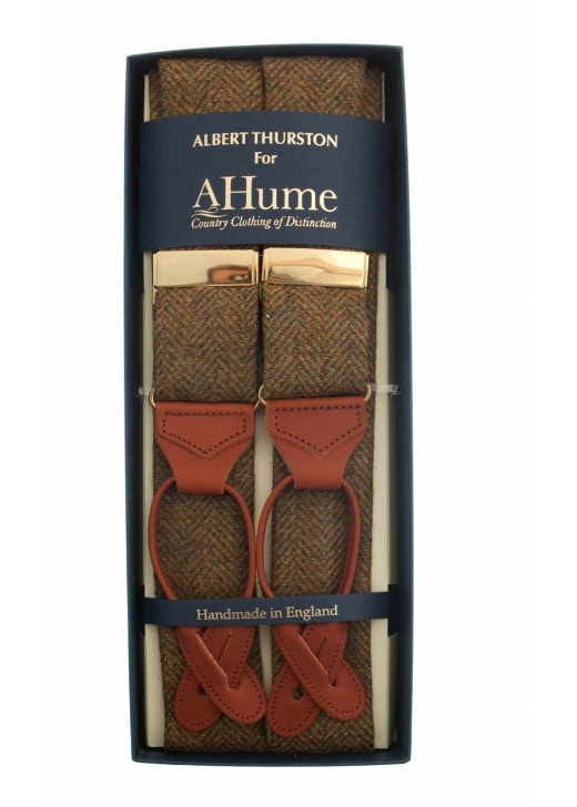 Albert Thurston Tweed Herringbone Braces