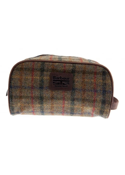 Barbour Tweed Washbag