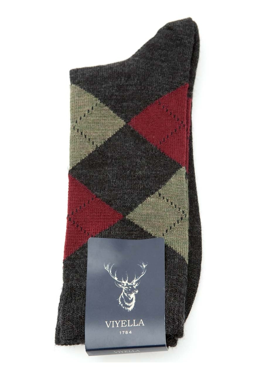 Viyella Argyle Wool Socks Large Image