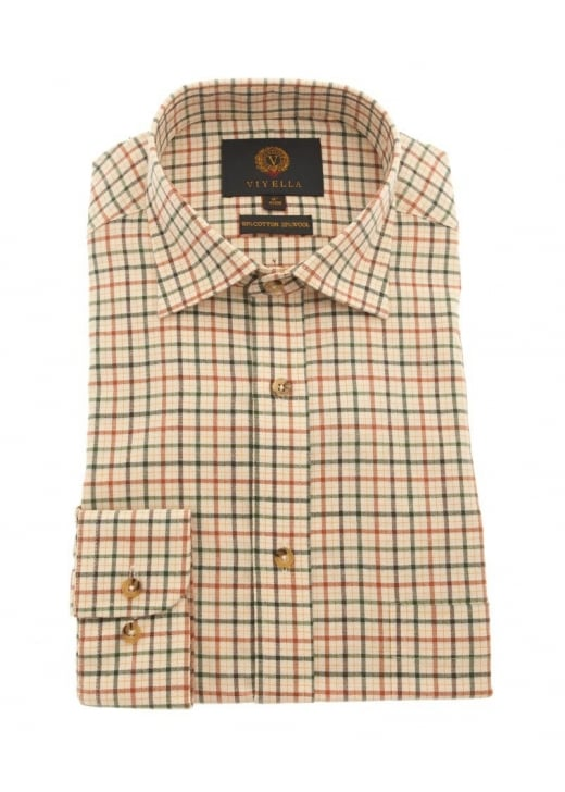 Viyella Dice Weave Check Shirt