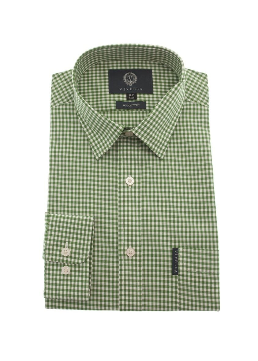 Viyella Gingham Check Shirt  Large Image
