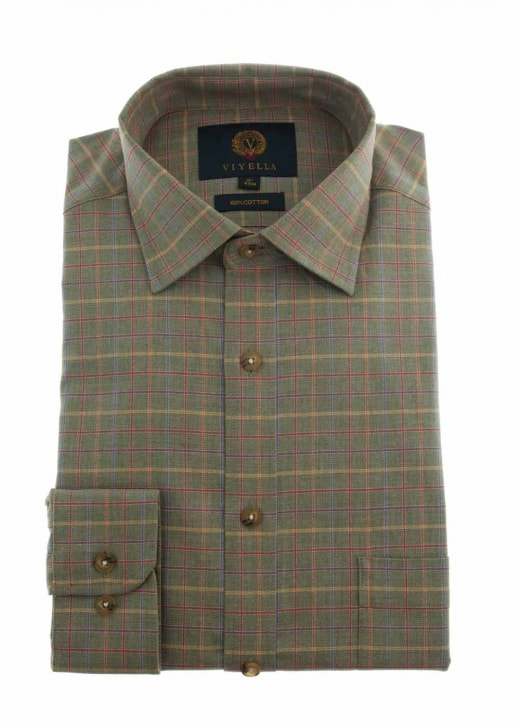 Viyella Melange Ground Tattersall Shirt