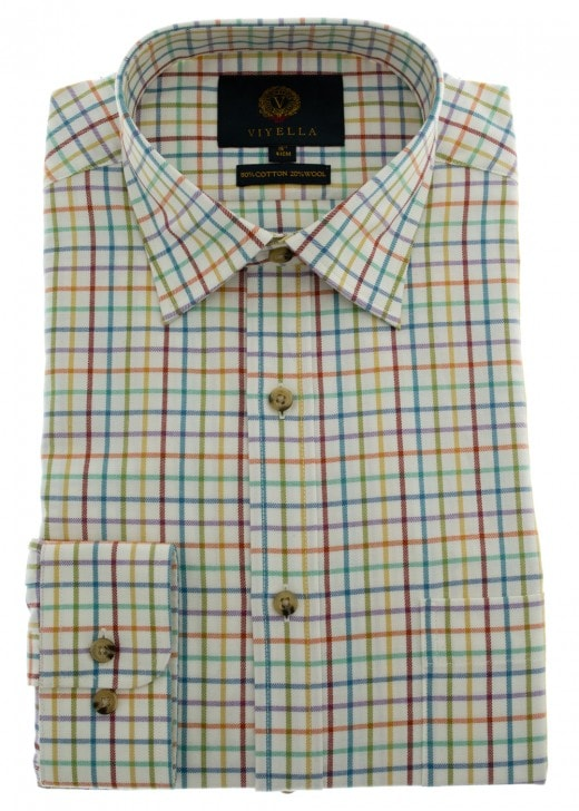 Viyella Multi Colour Tattersall Shirt