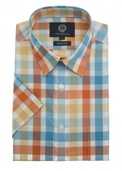 Viyella Square Checked Shirt
