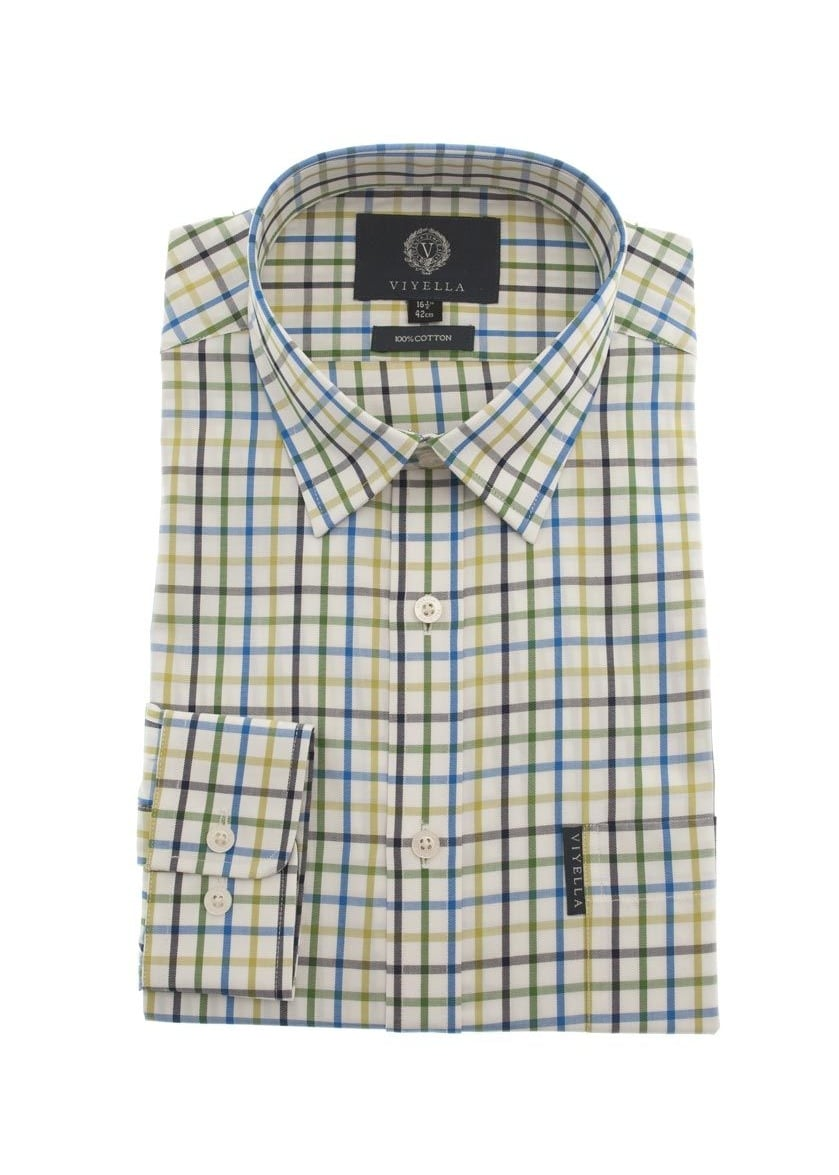 Viyella Tattersall Check Shirt NEW Large Image