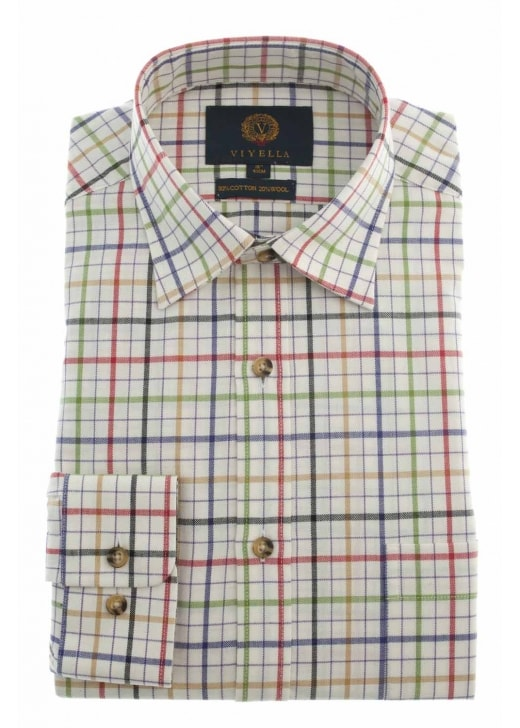 Viyella Windowpane Check Shirt