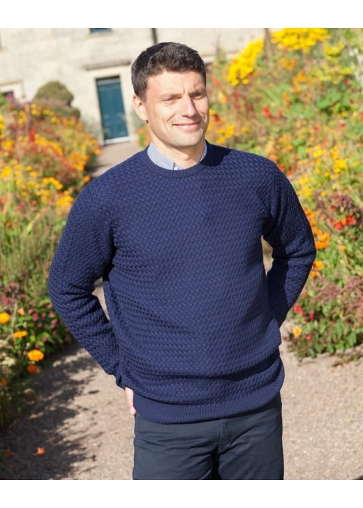 William Lockie Merino Wool Crew Neck